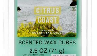 CITRUS COAST SCENTED WAX CUBES 2.5 OZ