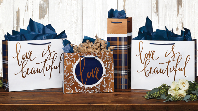 LOVE IS BEAUTIFUL GIFT BAGS - SET OF 4