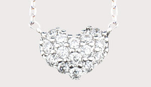 CRYSTAL HEART NECKLACE (J164)