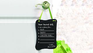 SECRET ELF CHALKBOARD ORNAMENT/DOOR HANG