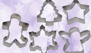COOKIE CUTTERS - SET OF 5