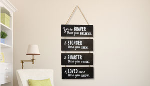 YOU ARE BRAVE WALL ART (H906)