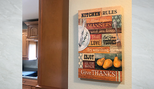 KITCHEN RULES CANVAS WALL PLAQUE