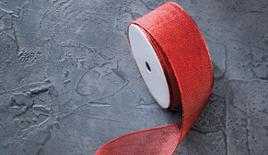 RED WIRED RIBBON