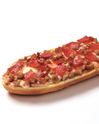 Three Meat French Bread Pizza