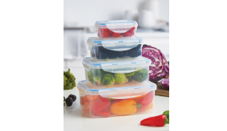 RECTANGULAR FOOD STORAGE CONTAINERS, SET OF 4