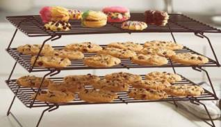 3 TIER CHOCOLATE COLORED COOLING RACK
