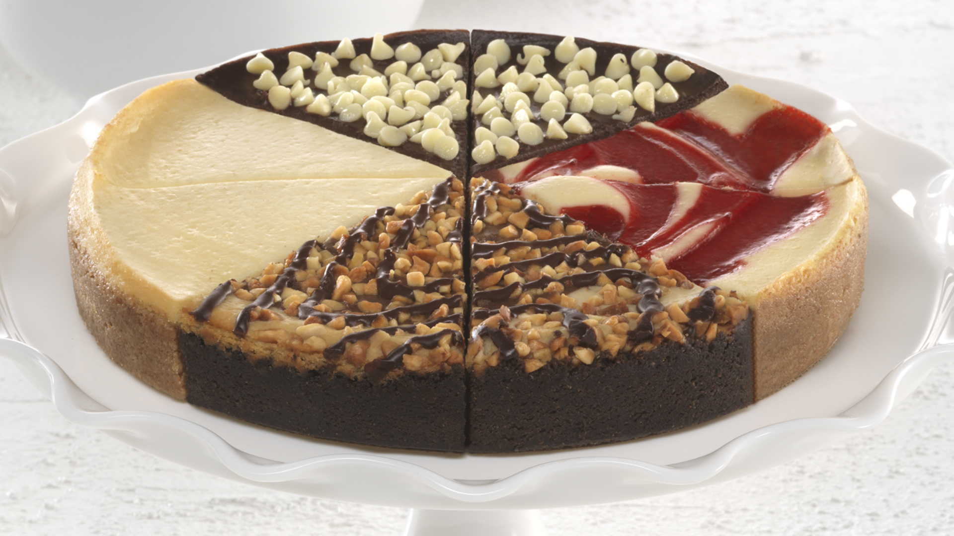 Variety Drizzle Cheesecake